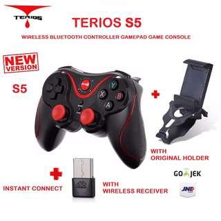 Terios S5 Gamepad Bluetooth Joystick Controller With Wireless Receiver