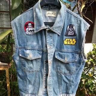Jaket Jeans Custom Star Wars Patch