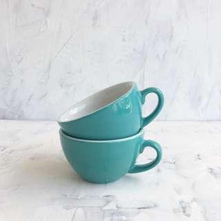Turquoise Ceramic Coffee Cups