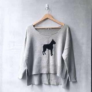 Illustrated People Oversized Novelty Sweater