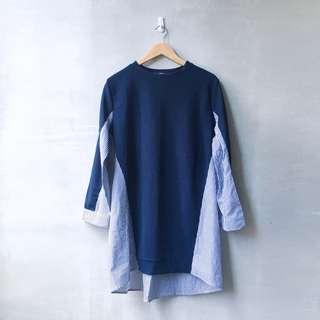 Patchwork Sweater Shirt