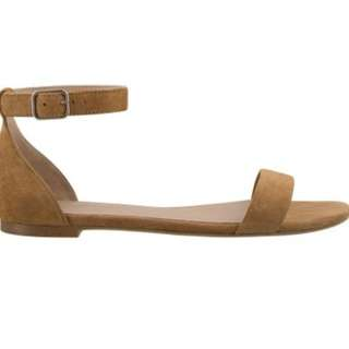 Tony Bianco Brown Suede Sandal Size 7
