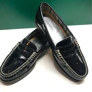 Sperry Top-Sider Black Patent Leather Loafers Size 36