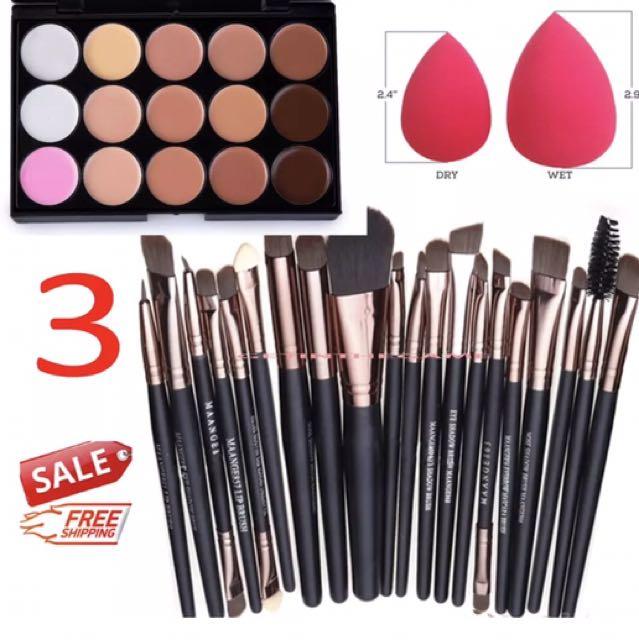 15 Contour W 20Pcs Facial Makeup Brush Set