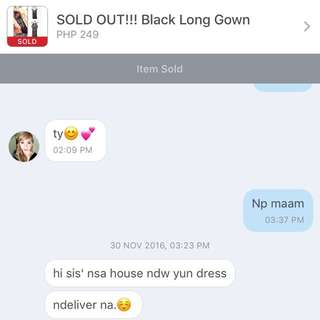 Thank You For Purchasing My Black Long Gown