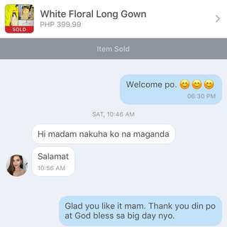 Thank You For Purchasing My White Floral Long Gown