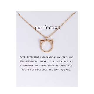 Purrfection Cats Ears Necklace.  BRAND NEW