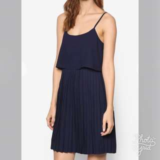 Zalora Love Double Layered Pleated Dress