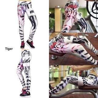 Baru!!! Celana Legging Yoga - Tiger
