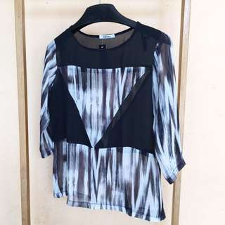 Abstract Printed Lose Top