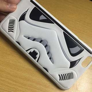 Storm Trooper Star Wars Iphone 6+ Leather Hard Case