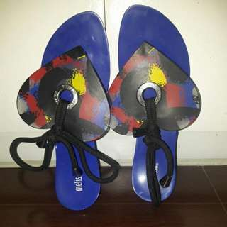 Limited Edition Melissa Heart And Art Flip Flops