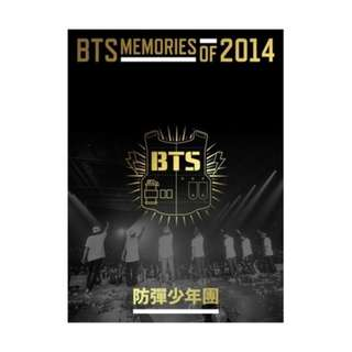 WTB BTS Memories 2014 & 2015, BTS Lightstick Ver 1 and Wings tour program