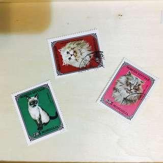 貓咪郵票 收藏