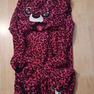 Pink Leopard Print Onesie
