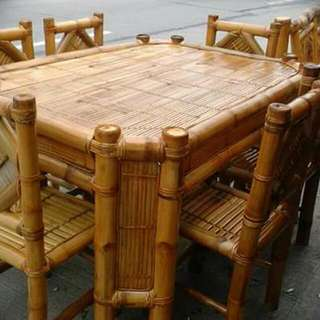 6 Seater Bamboo Dining Set