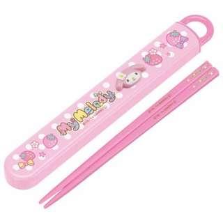 Japan Sanrio My Melody Portable Personal Chopsticks & Case