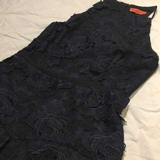 Manning Cartel Navy Lace Dress