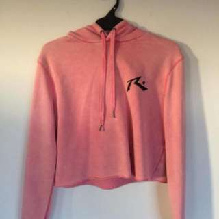 RUSTY Pink Cropped Hoodie