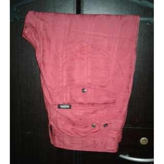 VON DUTCH Red Cargo Shorts