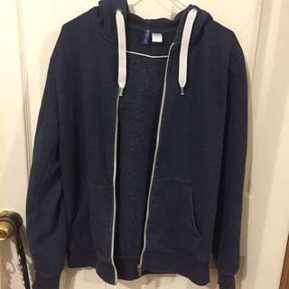 H&m thick Navy Hoodie