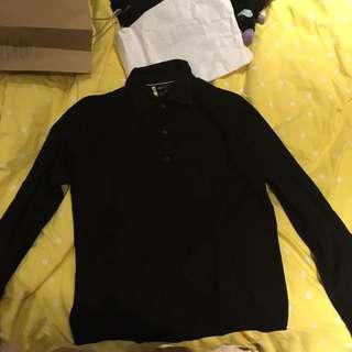 G2000黑色領子毛衣