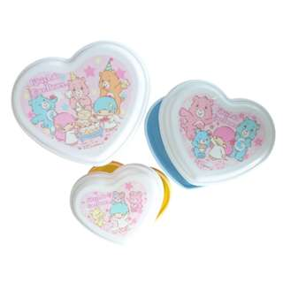 Japan Little Twin Stars Care Bears Microwaveable Food Containers (3pcs)