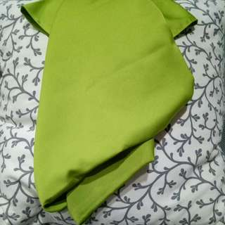 olive green silk scarf / pasmina