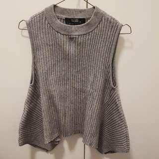 Decjuba Wool Blend Grey Top