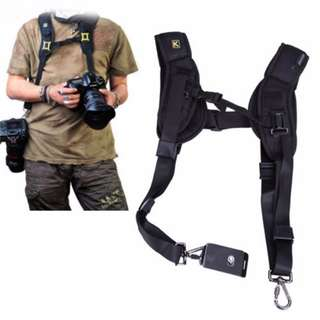 ($19.90) Quick Release Double Dual Camera Shoulder Strap Harness Adjustable Dual Camera sling Camera Neck Strap for DSLR SLR Mirrorless Canon Nikon Olympus Pentax Panasonic Sony