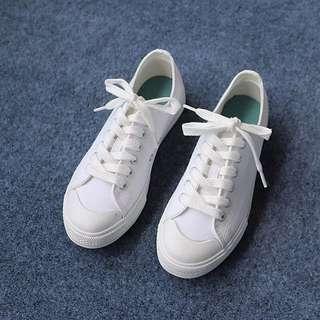全新小白鞋 白色帆布鞋 41