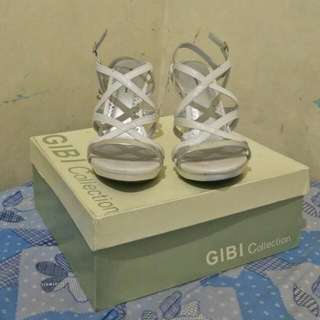 "Gibi Shoes 3"" White/Silver"