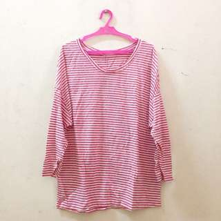 Red Stripes Pullover