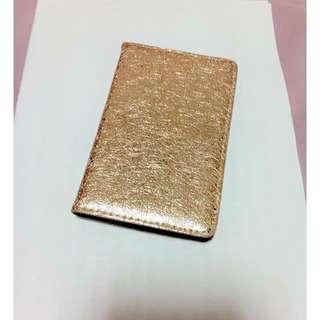 金色名片盒