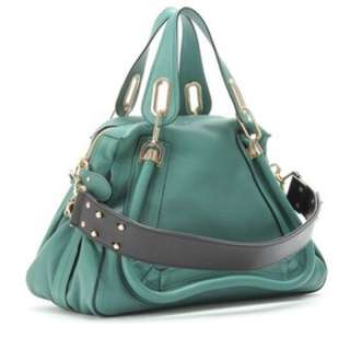 Chloe Paraty Medium Leather Bag With Military Strap