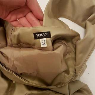 VERSACE Authentic Champagne Gold Dress