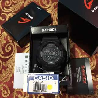 GSHOCK GD-100-1BDR STEALTH BLACK DIGITAL EDITION