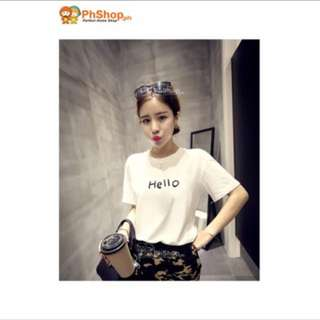 Korean Hello Printed Shirt