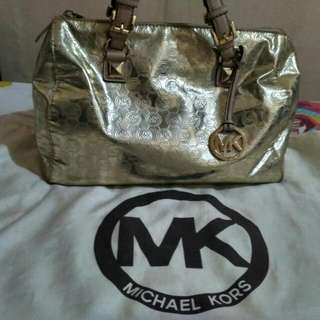 Tas MK ORI Model Speedy Warna gold