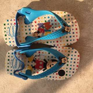 Original Havaianas Mickey Mouse Edition Kids Slippers/ Sandals