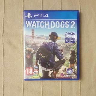 Watch Dogs 2 PS4 (Willing To Trade For Horizon Zero Dawn, Dragon Ball Xenoverse 2)