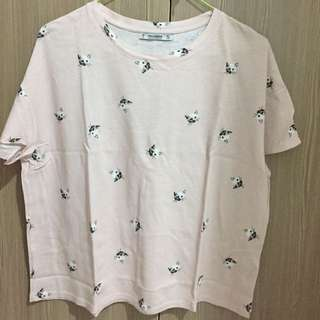 tshirt pull and bear / crop tee