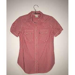 ORIGINAL LEVI'S Red Plaid Shirt