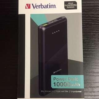 Verbatim 10000 mAh 外置充電電池