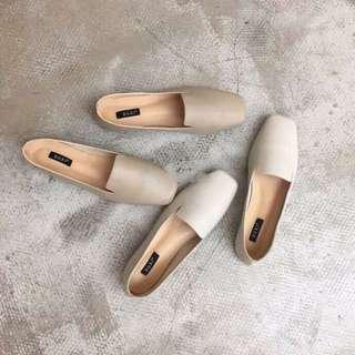 🚚 Summer! 四季可穿 方頭 軟底包鞋 奶奶鞋 復古
