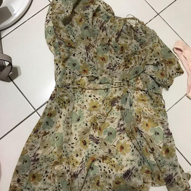 單肩雪紡洋裝