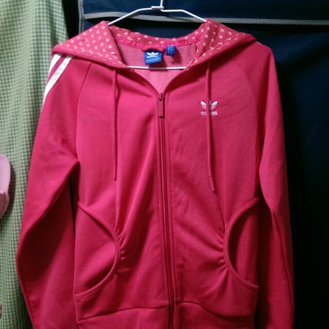 Adidas 愛迪達桃紅色外套