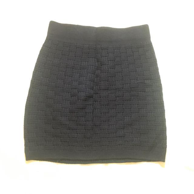 秋冬針織短裙