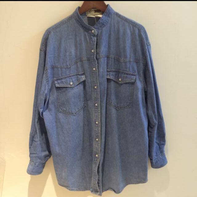 日本購入 中山領長版牛仔襯衫/外套