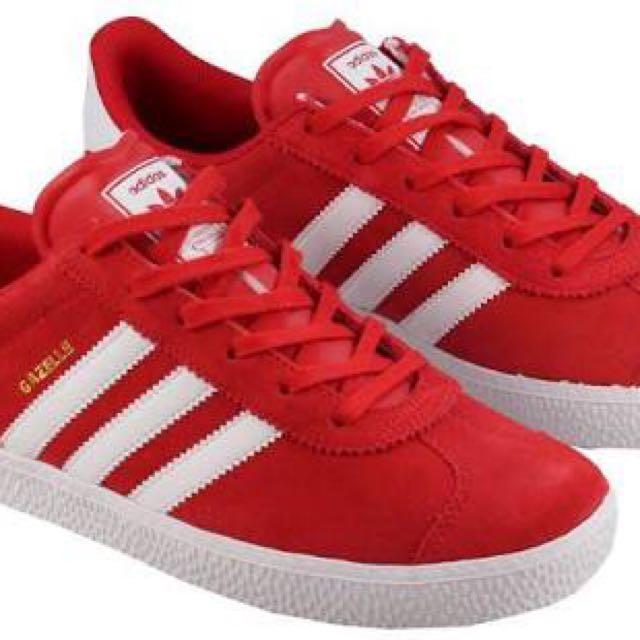 Adidas Gazelle (Red) Size 8